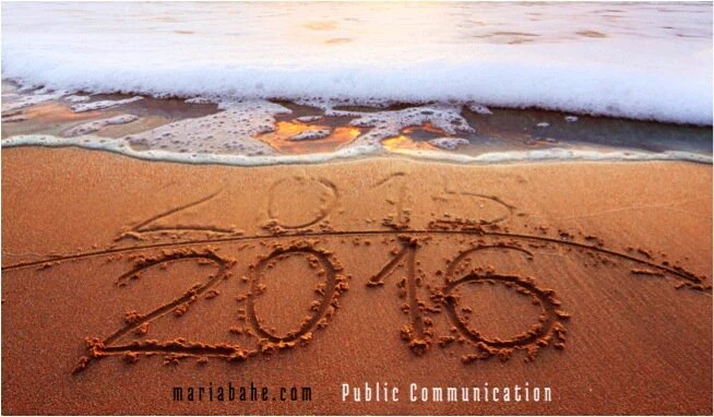 2015 is ending ... 2016 is coming ...